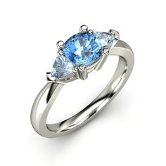 The Tahlia Ring #customizable #jewelry #topaz #aquamarine #gold #ring