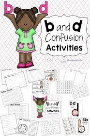B and D reversals and confusion are so common in beginning readers and writers. Here& some activities that I use to help correct these errors in my struggling readers. Letter Activities, Reading Activities, Literacy Activities, Dyslexia Activities, Dyslexia Strategies, First Grade Reading, Student Reading, Teaching Reading, Reading Skills