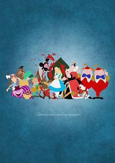 Alice in Wonderland inspired design.