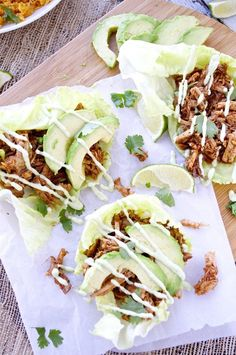 Chipotle Pork Lettuce Wraps - time for a quick dinner...a healthy spin on tacos.