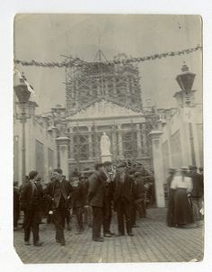 Photograph showing Belfast City Hall in the process of being built. by Public Record Office of Northern Ireland, via Flickr