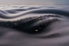 This Long-Exposure Photo Captures Marin County in a River of Fog Lit by a Full Moon // Lorenzo Montezemolo Amazing Photography, Street Photography, Landscape Photography, Art Photography, Travel Photography, Foto Nature, Long Exposure Photos, Exposure Time, Magical Pictures