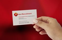 The Logo Smith collaborated with Positive Advertising on this Logo & Brand Identity Re Design project for Kerr Recruitment in the UK. Business Card Design, Business Cards, Logo Branding, Logos, Brand Identity Design, Visit Cards, A Logo, Name Cards, Brand Identity Pack