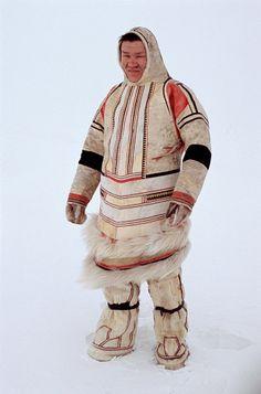 Velodeya Turdalgin, a Nganasan man, wearing traditional dress. Taymyr, Northern Siberia, Russia