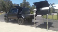 Survival camping tips Custom Ute Trays, Ute Canopy, Truck Flatbeds, Camping Set Up, Truck Bed Accessories, Toyota Trucks, Expedition Vehicle, Toyota Hilux, Survival