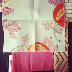 Photo by Good Bones, Great Pieces. Love that Raoul Textiles Eve fabric. -KKM