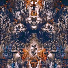 """ॐ Psyṛtambara Prajñā :  Psychedelic knowledge that holds """"The Ultimate Truth."""" ----------------------------------------------------------- Visionary Artscapes intended to produce subtle  vibrations via intrinsic visual detail & conception towards vanquishing the realm of """"Distinct Duality"""" -  thereby shifting the """"self"""" towards one's own evolutionary reckoning of """"The Timeless & The Ultimate Truth."""" ----------------------------------------------------------- ༺✿ ॐ Ψ ॐ ✿༻ theare.co.in…"""