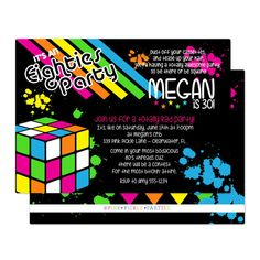 36 Best 80s Party Invites Images 90s Party Invitations Theme Parties
