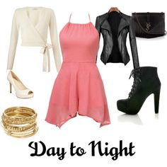 day2night by alyssa-bolin on Polyvore featuring Miss Selfridge, Marc Fisher, Yves Saint Laurent, ABS by Allen Schwartz, DayToNight and romper