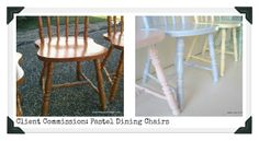 Restyled Vintage: Client Commission: Painted Pastel Dining Chairs. Maybe I might do pastel colors for my kitchen chairs instead of brighter colors.