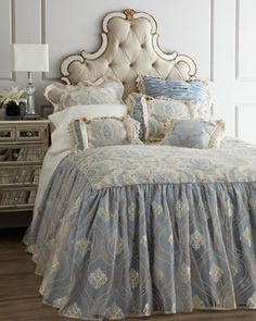 """""""Auriele"""" Bed Linens by Isabella Collection by Kathy Fielder at Horchow."""