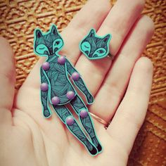 Lady Fox Brooch & ring