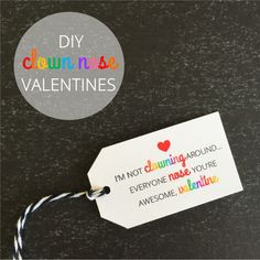 Clown Nose Valentine Favors - The Twinery