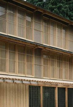 Ginzan Onsen, Fujiya, Yamagata, Japan (2006) by architect Kengo Kuma www.kkaa.co.jp