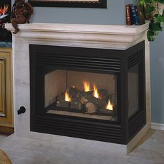 Image result for two sided corner fireplaces