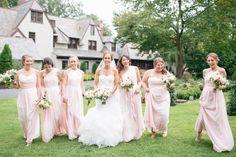Blush Bridesmaid Dresses | Blush Bridesmaid Dresses, Wedding Bridesmaids, Blush Weddings, Wedding Dresses, Blush Roses, Blush Pink, Wedding Reception Venues, Wedding Hair Accessories, Wedding Planner