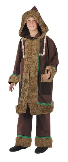 DisfracesMimo, disfraz de esquimal deluxe niño varias tallas. Te mantendrás caliente como un auténtico esquimal del Ártico en las frías noches. Es el disfraz perfecto para acudir a Fiestas Temáticas. Este disfraz es ideal para tus fiestas temáticas de disfraces esquimal y regional adulto. fabricacion nacional