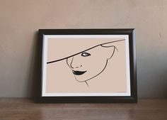 Woman with hat - illustration by MSaHomeDesign on Etsy