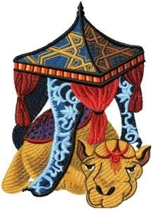 Arabic Camels - Oriental-Embroidery   OregonPatchWorks
