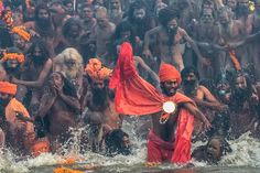 Every 12 years, the Naga Sadhus—or sky clad—Hindu monks celebrate the Kumbh Mela festival, at the confluence of the Ganga and Yamuna rivers. The pilgrimage, in which the monks bathe in holy waters to wash away their sins, is held once every three years in one of four rotating locations. Makar Sankranti, observed on Jan. 14 this year, is an annual harvest festival marking the start of spring and recognized throughout India.