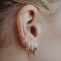 BACK IN STOCK | The Pandua Earring Sets in Gold + Silver part of our @wolfcubwolfcub collab [available at LuvAj.com]