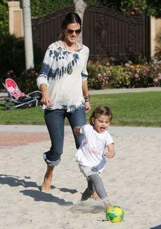Supermodel,Allesandra Ambrosio with her daughter