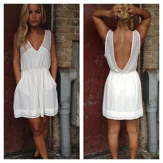 White dress, low back