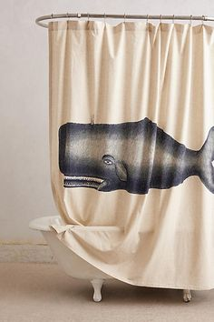 Moby Shower Curtain - anthropologie.com