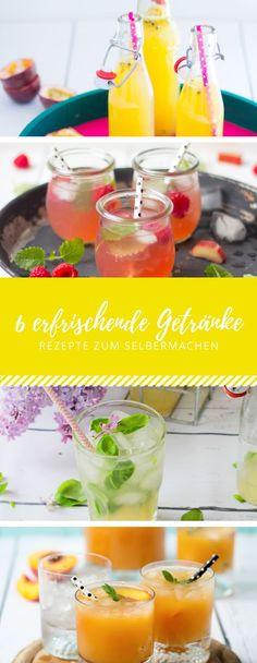 Den Sommer trinken - 6 erfrischende Getränke selbermachen