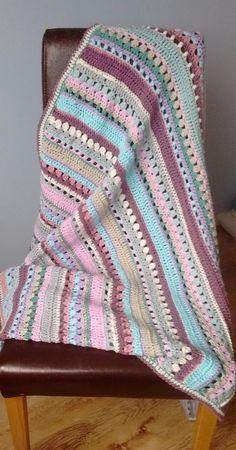 Mixed Stitch Crochet Blanket Free Pattern