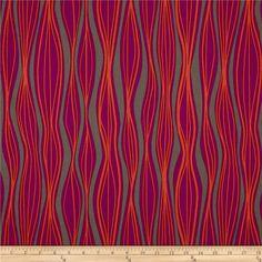 Primitivia Wavy Stripe Grey/Purple/Orange :: 1.5yds