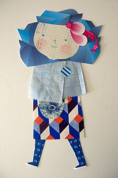 Paper doll collage: inspiration for a kids craft activity.