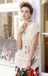 Vogue Knitting Open Stitch Dolman pattern by Jacqueline van Dillen