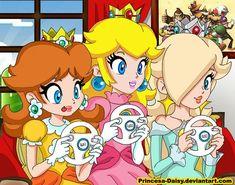 Mario Kart Wii playing time by Princesa-Daisy.deviantart.com