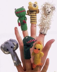 Finger Puppets in Regia 4 Ply: http://www.mcadirect.com/shop/regia-ply-plain-colours-p-2649.html
