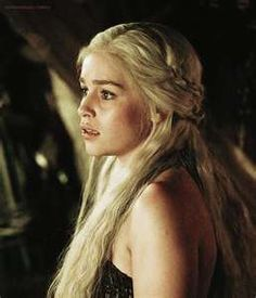 Daenerys Targaryen. Blood of a dragon, mother of dragons, the khaleesi of dothraki. Liked her much more in the books than in the show but Emilia Clarke is unfairly beautiful as the dragon queen, can't deny that.