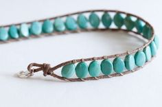 I'm not a big turquoise fan, usually because of the settings, but I like the simplicity of this.