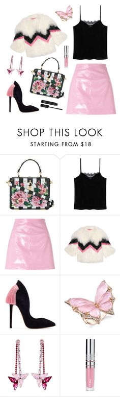 """""""Vinyl, baby!"""" by ravenclaw-phoenix ❤ liked on Polyvore featuring Dolce&Gabbana, MANGO, Miss Selfridge, Gucci, Stephen Webster, Henri Bendel, PUR and ZOEVA"""