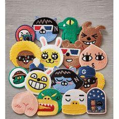 Kakao Friends Official Goods Embroidery Wappen Badge Muzi Apeach Tube GKKF0051