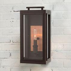 Chic Americana Inspired Wall Lantern - Small bronze