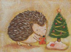Hedgehog+Christmas by+GoomiesWorld