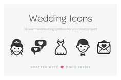 Mono Icons: Wedding @creativework247