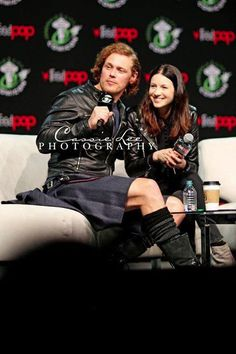 """internallydeceased: """"notevenjokingrightnow: """"balfeheughlywed: """" betweenthescenes: """" obsessivesassenach: """" """" """" They look so good together…I just want them to get married and have babies and show us how..."""