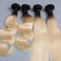 Lavish 1B/613 Ombre Virgin Hair Bundles - 16 inch / Body Wave