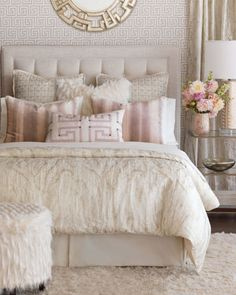 Edris Ivory Pillow and Matching Items by Eastern Accents at Horchow.
