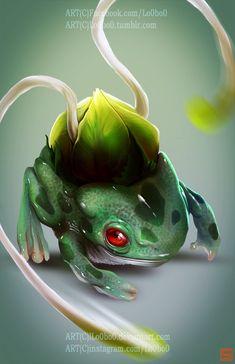 Realistic pokemon project 001 Bulbsasaur, Sergio Palomino on ArtStation at https://www.artstation.com/artwork/GkAOa