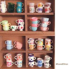 2016.11.24 マグカップマニアの棚 . ワタシもリアルでマグカップコレクションしてみたいなぁ ま、ミニチュアコレクションで満足だけど #toy #食玩 #miniaturefood #miniature #ミニチュア #rement #リーメント
