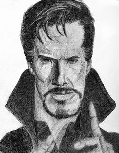 3 Hour Benedict Cumberbatch/Dr Starnge pen drawing fanart.  Comments and criticism appreciated.  https://www.facebook.com/RebeccaGriffithsArt/    #marvel #comincs #drstrange #benedictcumberbatch #marvelcomics #avengers #fanart #semirealism