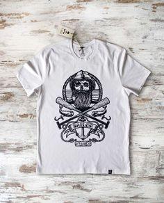 Sailor Skull T-Shirt men white