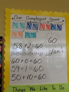 The Pre-Kindergarten count their compliments.( Maybe the bubbles will stay in their mouths and hands off the walls.)